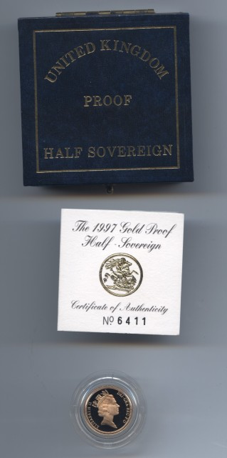 1997 proof half sov obv