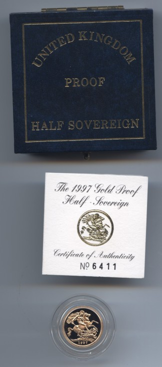 1997 proof half sov rev