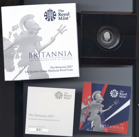 2017 quarter platinum proof Britannia obv