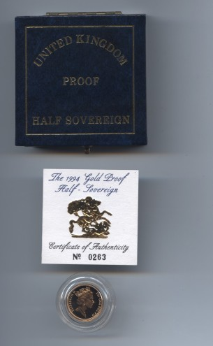 1994 half sov obv