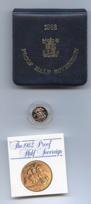 1982 proof half sov rev