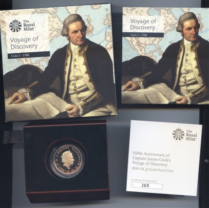 2018 gold proof two pound cook obv