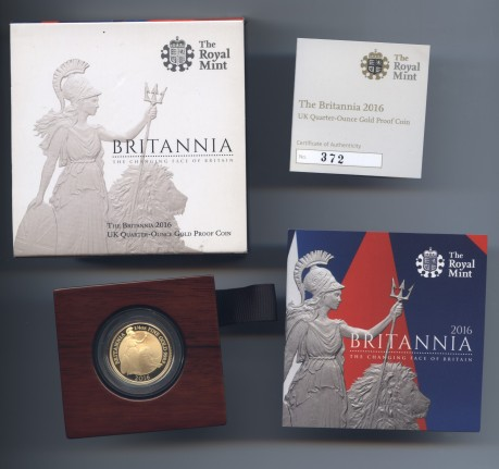 2016 quarter gold brit rev