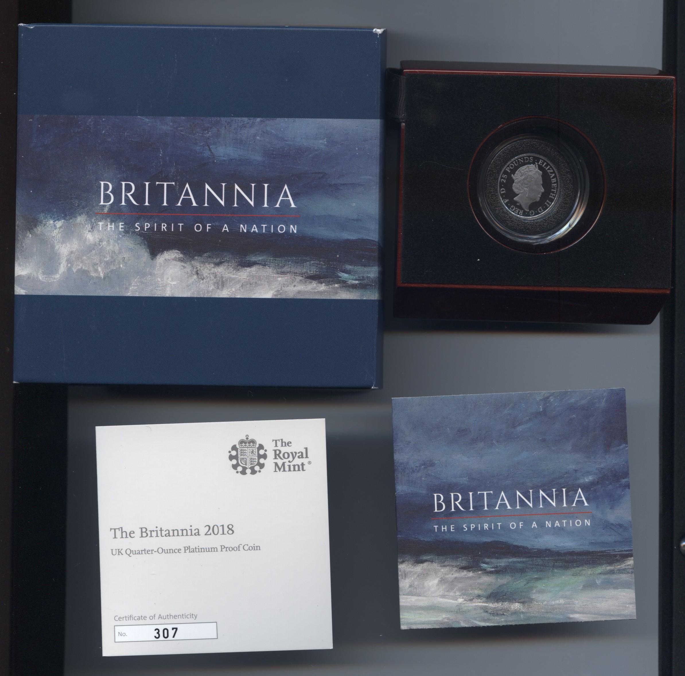 2018 Britannia platinum quarter