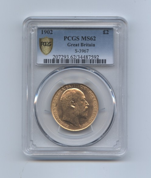 1902 two pound ms62 obv