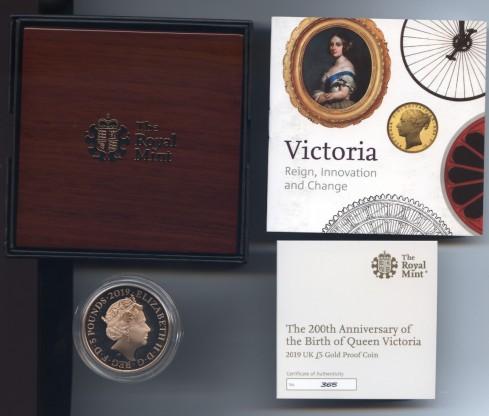 2019 Victoria five pound obverse