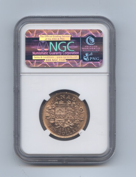 Canada 1913 ten dollars rev