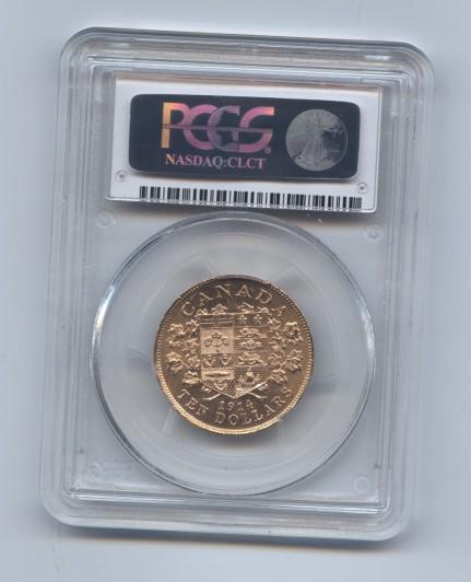 Canada 1914 ten dollar pcgs 64 rev