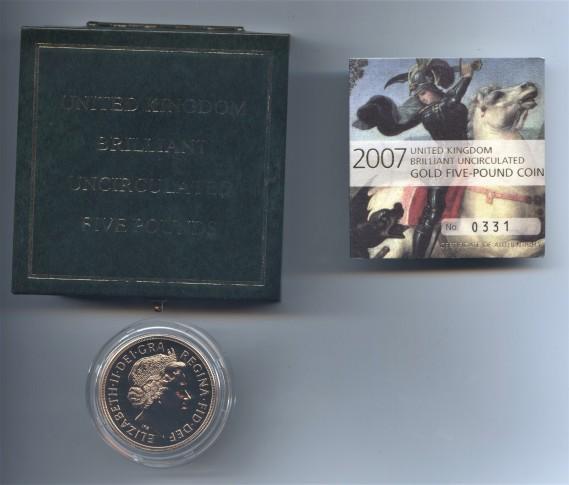 2007 five pound bu obv